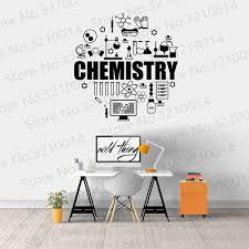 Chemistry Wall Decal Exact Sciences Molecules Laboratory School Classroom Study Interior Decor Vinyl Window Stickers Mural Pw688 Wall Stickers Aliexpress