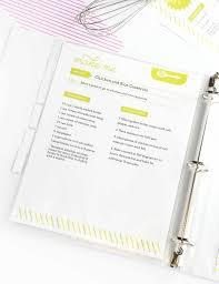 free printable recipe binder kit