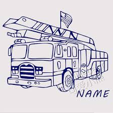 Custom Name Fire Truck Wall Decal Engine Fireman Firefighter Vinyl Sticker Home Boy Room Interior Art Decoration Creative Art Mu Name Wall Decals Wall Decalsvinyl Stickers Aliexpress