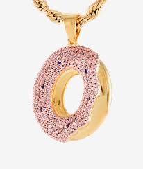 donut pendant gold necklace
