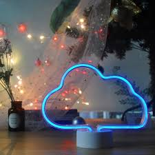 Neon Night Light Cloud Shaped Neon Signs Led Light Up Sign Wall Decor Light For Wedding Sign Birthday Party Camping Kids Room Living Room Bedroom Blue Amazon Com