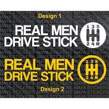 Real Men Drive Sticker Car Bumper Sticker Decal Pair Of 2 Stickers