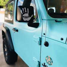 Jeep Wave Hand Vinyl Decal Jeep Wrangler Decal