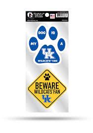 Kentucky Wildcats 2 Piece Pet Themed Auto Decal Blue 7141767