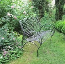 charcoal metal shabby chic garden bench