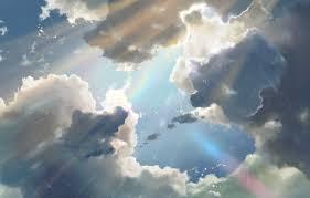 sky clouds rain anime sky