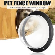 Transparent Pet Fence Window Clear Peek Dome Insert Outside Landscape Viewer Wish