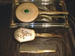 vintage dresser set mirror brush comb