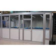 glass aluminium frame partition walls