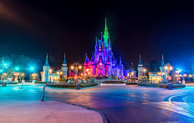 lights night castle park disneyland