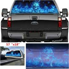 Flaming Skull Rear Window Tint Graphic Decal Wrap Back Truck Car Sticker Archives Statelegals Staradvertiser Com