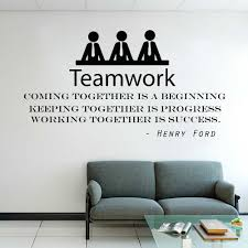 Teamwork Motivation Wall Decals Henry Ford Quote Coming Together Is A Beginning Office Wall Sticker Vinyl Office Decor X183 Wall Stickers Aliexpress