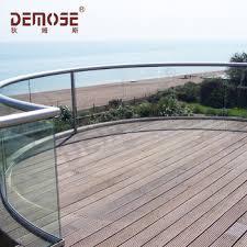 curved outdoor modern deck glass