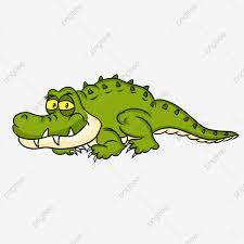 funny cartoon little crocodile vector