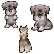 Schnauzer Dog Set Of 3 Decals