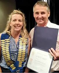 Rotary Club president honoured for his work   Queensland Times