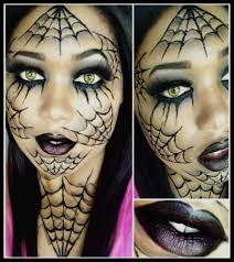 spider web makeup on forehead