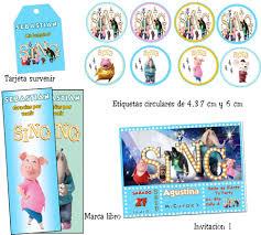 Kit Imprimible Sing Ven Y Canta Cotillon Editable 2 000 En