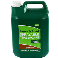 Buy Fence And Shed Sprayable Timbercare Red Cedar At Home Bargains
