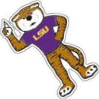 Lsu Tigers Die Cut Purple Gold Mike The Tiger Mascot Vinyl Decal