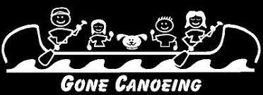 Canoe Family Stick Figure Decal Sticker Custom Made Ebay