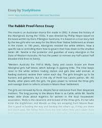 The Rabbit Proof Fence Free Essay Example