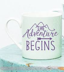 The Adventure Begins Mug Tumbler Decals Vinyl Lettering Rtic Yeti Sticker Art Quote
