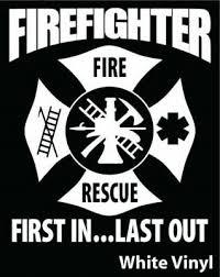 Firefighter Wife T27 Maltese Cross 4 Vinyl Decal Sticker Car Window 6 99 Picclick