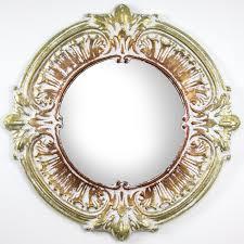 gold bronze baroque style mirror
