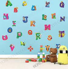 Large Alphabet Abc Wall Stickers Kids Early Educational Baby Nursery Decal Decor Ebay