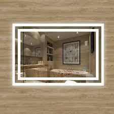 lux aqua design led bathroom mirror