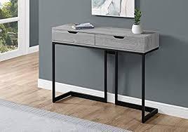 42 l grey black metal base open shelf