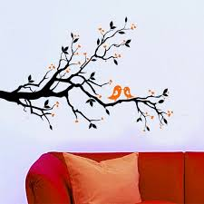 Amazon Com Wallstickersusa Contemporary Wall Sticker Decal Tree Branches Leaves Lovebirds And Hearts X Large Baby