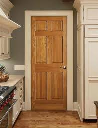 wood doors white trim