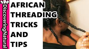 african threading on natural hair