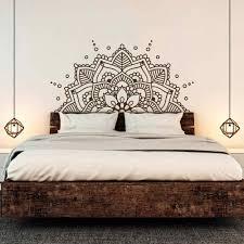 Bedroom Headboard Boho Bohemian Decor Half Mandala Wall Decal Yoga Studio Namaste Ornament Mandala Vinyl Wall Sticker D268 Aliexpress Mandala Decals Headboard Decal Wall Stickers Yoga