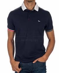 HARMONT & BLAINE © Polo Shirt - Black Contrasting Sleeve