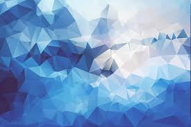 abstract blue digital art artwork