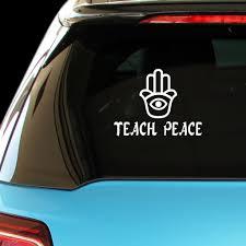 Buy Shirtmania Teach Peace Muslim Islamic Car Laptop Wall Sticker In Cheap Price On Alibaba Com