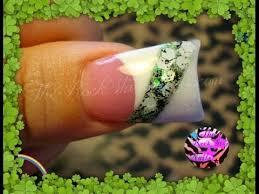 st patricks acrylic nails 1st design