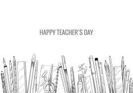 schizzo di arte disegnata a mano con composizione giornata mondiale degli  insegnanti - Scarica Immagini Vettoriali Gratis, Grafica Vettoriale, e  Disegno Modelli