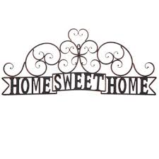 home sweet home metal wall decor