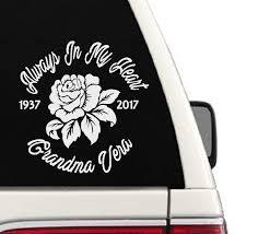 Amazon Com In Memory Of Custom Rose Car Decal Cd48 Handmade