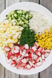 Imitation Crab Salad Recipe (Russian ...
