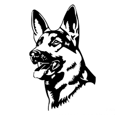 German Shepherd Head Dog Decal Sticker Car Vinyl K9 Police Pick Size Color B Auto Parts And Vehicles Car Truck Graphics Decals Magenta Cl