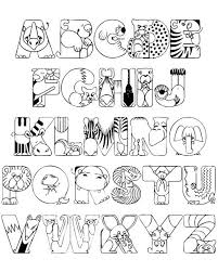 Crazy Zoo Alphabet Coloring Pages Alfabet Kleurplaten Dieren