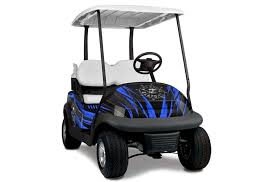 Club Car Precedent I2 Graphics Nuke Blue Golf Cart Graphic Decal Kit Golf Cart Graphic Kits Graphic Kits