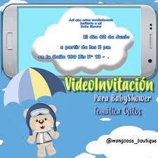 Videoinvitacion Osito Paracaidas Mongoose Boutique