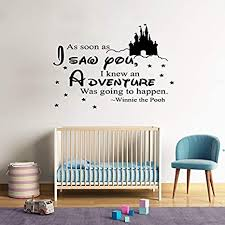 Amazon Com Shellstyle Inspirational Wall Decals Quotes As Soon As I Saw You I Know An Adventure Was Going To Happen Arts Crafts Sewing