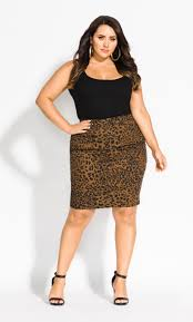 plus size jungle frenzy skirt